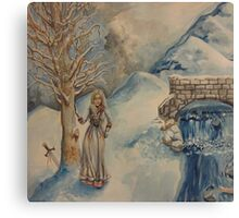 A Woman in Winter Canvas Print