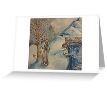 A Woman in Winter Greeting Card