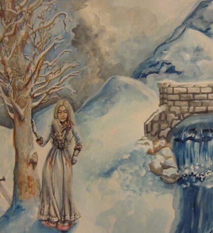 A Woman in Winter Sticker