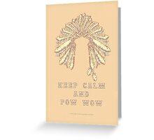 POW WOW - 043 Greeting Card