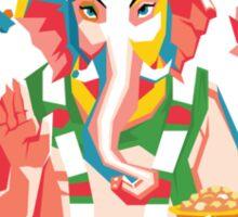 Lord Ganesh - Hindu God - Geometric Avatar Sticker