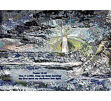 MIND THE ROCKS/BIBLE VERSE ABOUT LIGHT Photographic Print