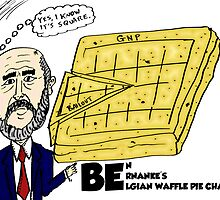 Ben Bernanke's Belgian Waffle Pie Chart by Binary-Options