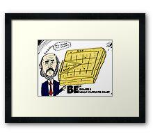 Ben Bernanke's Belgian Waffle Pie Chart Framed Print