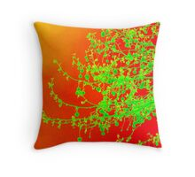 Christmas and all occasion cards and prints - red and lime green tones Throw Pillow