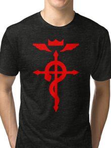 Fullmetal Alchemist Logo Red Tri-blend T-Shirt