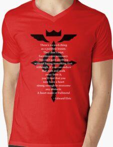 Fullmetal Heart Black Mens V-Neck T-Shirt