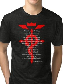 Fullmetal Heart Red Tri-blend T-Shirt