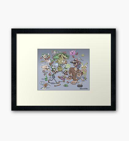 Super Smash Brothers Framed Print
