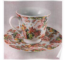 Vintage Tea Set Poster
