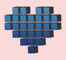 Pixel Heart One Piece - Short Sleeve