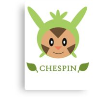 Chespin - Pokemon X & Y Canvas Print