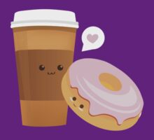 Coffee + Donut by Blubirdie Shirts