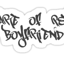 Beware Of Psycho Boyfriend Sticker