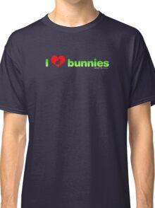 I Love Bunnies Classic T-Shirt