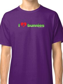 I Love Bunnies Classic T-Shirt
