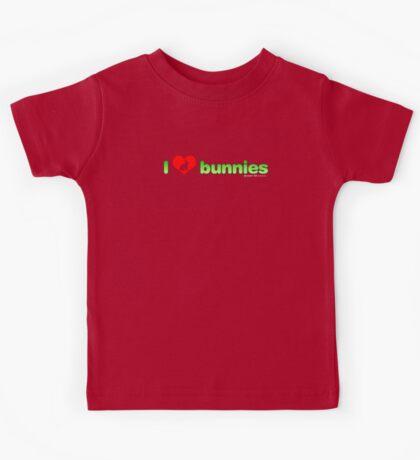 I Love Bunnies Kids Tee