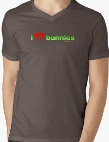 I Love Bunnies Mens V-Neck T-Shirt