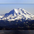 Framed Mt. Rainier Panorama by Tori Snow