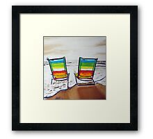 On  Holidays Framed Print