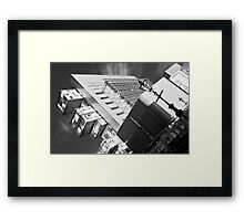 Manchester's civil justice law courts. (B&W) Framed Print