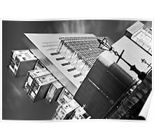 Manchester's civil justice law courts. (B&W) Poster