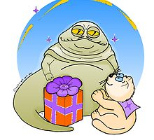 Ozzi Cat with Jabba The Hut from Star Wars by Natalie Cat