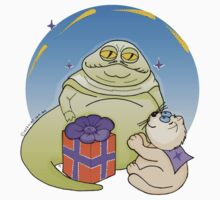 Ozzi Cat with Jabba The Hut from Star Wars One Piece - Long Sleeve