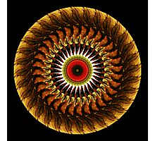 "Mandala ""Protective Eye"" in Earth Tones Photographic Print"