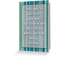 Happy Birthday, Dad Greeting Card