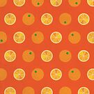 Cute Oranges Picture Pattern by thejoyker1986