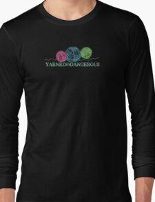 Crayon balls of yarn funny knitting crochet t-shirt Long Sleeve T-Shirt