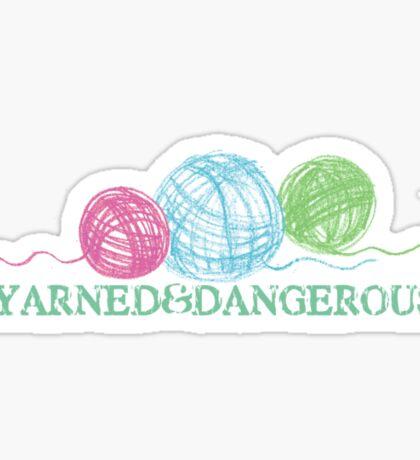Crayon balls of yarn funny knitting crochet t-shirt Sticker
