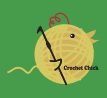 Crochet chick crochet hook ball of yarn funny t-shirt T-Shirt