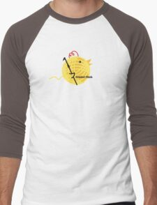 Crochet chick crochet hook ball of yarn funny t-shirt Men's Baseball ¾ T-Shirt