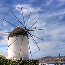 Thatched Windmill on Mykonos by Tom Gomez