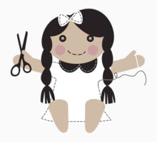 Cute handmade doll toy sewing seamstress t-shirt One Piece - Short Sleeve