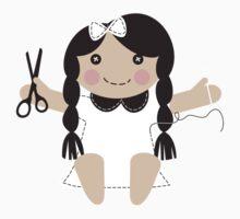 Cute handmade doll toy sewing seamstress t-shirt Kids Tee