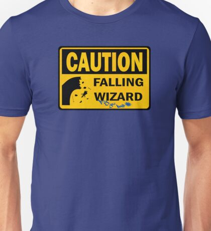 Caution: Falling Wizard Unisex T-Shirt