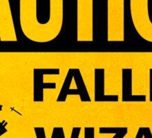 Caution: Falling Wizard Sticker