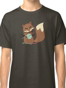 Cute fox crochet hooks fluffy yarn t-shirt Classic T-Shirt