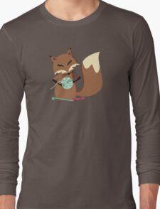 Cute fox crochet hooks fluffy yarn t-shirt Long Sleeve T-Shirt