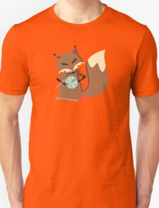 Cute fox crochet hooks fluffy yarn t-shirt Unisex T-Shirt