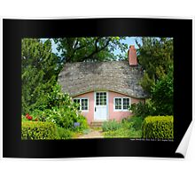 View On Pink Play House - Planting Fields Arboretum State Historic Park - Upper Brookville, New York Poster