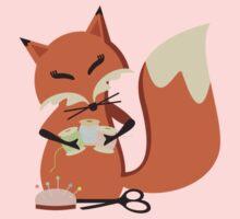 Cute fox seamstress sewing thread scissors Kids Clothes