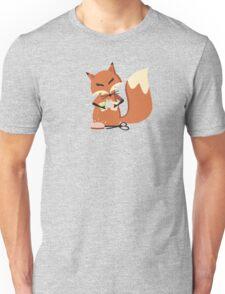 Cute fox seamstress sewing thread scissors Unisex T-Shirt