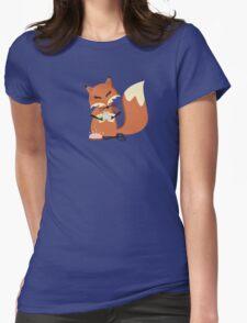 Cute fox seamstress sewing thread scissors Womens Fitted T-Shirt