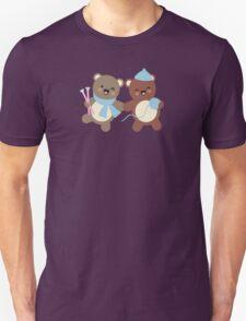 Cute kawaii bears knitting needles yarn t-shirt Unisex T-Shirt