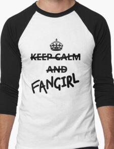 Keep Calm and Fangirl Men's Baseball ¾ T-Shirt
