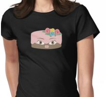 Frosted girl cake funny baking bakery t-shirt Womens Fitted T-Shirt